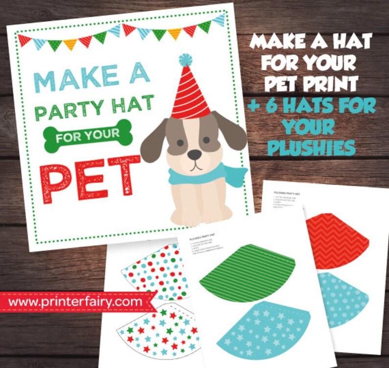 Pet Adoption Party Prints Make A Hat Puppy Birthday