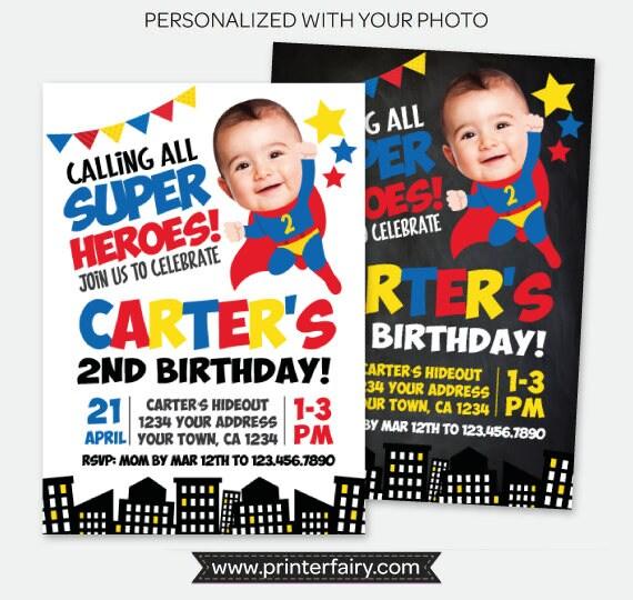 superhero invitation with photo superheroes invitation superhero invite personalized digital invitation