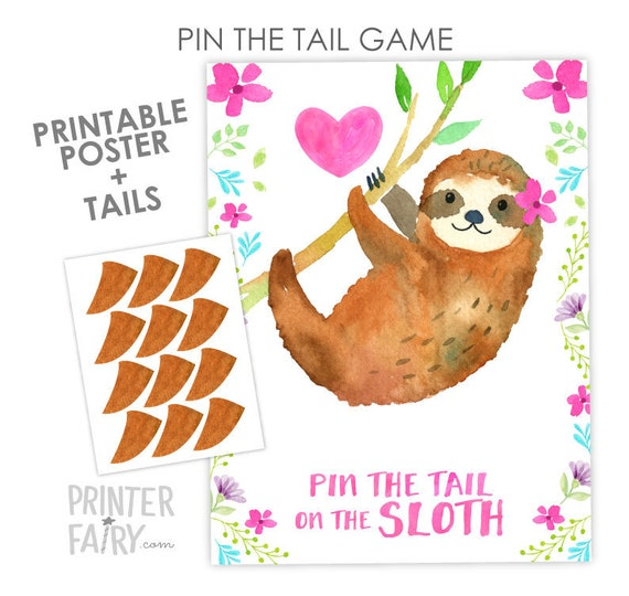 DIY Party Game Birthday Party Game Cupcake Party Game Printable Game Pin the Tail Game Pin the Flower on the Cupcake Party Game