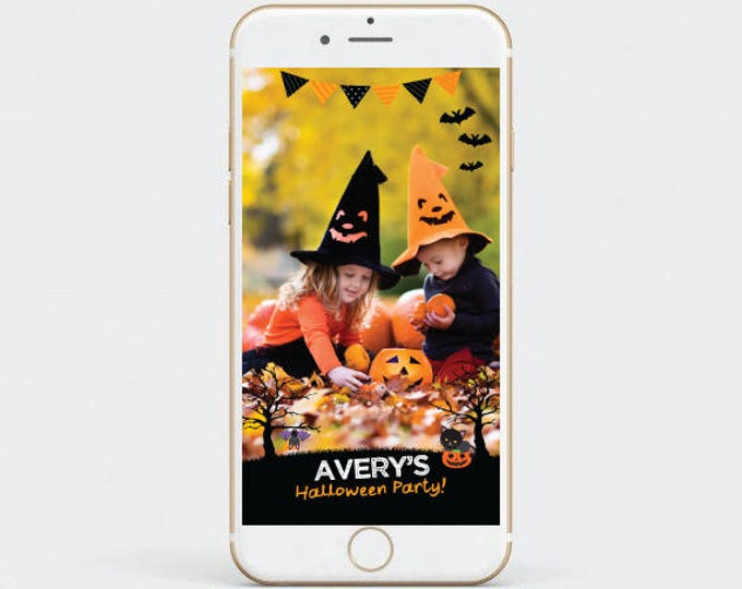 Halloween Snapchat Filter, Party Geofilter, Birthday Kids Geofilter, Customized Filter for your party!