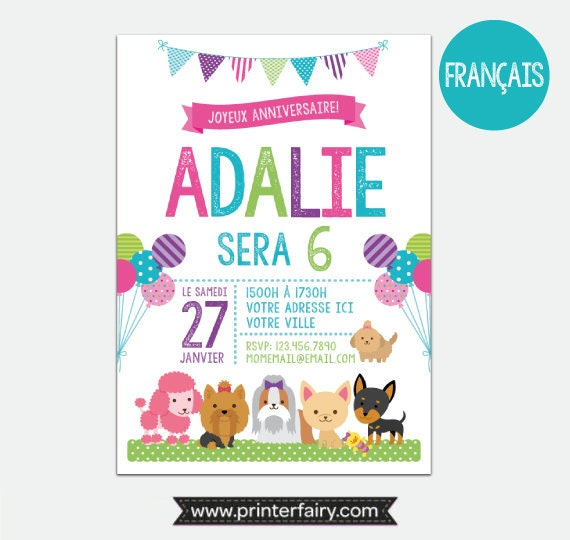french puppies and kitties invitation pet adoption party puppy