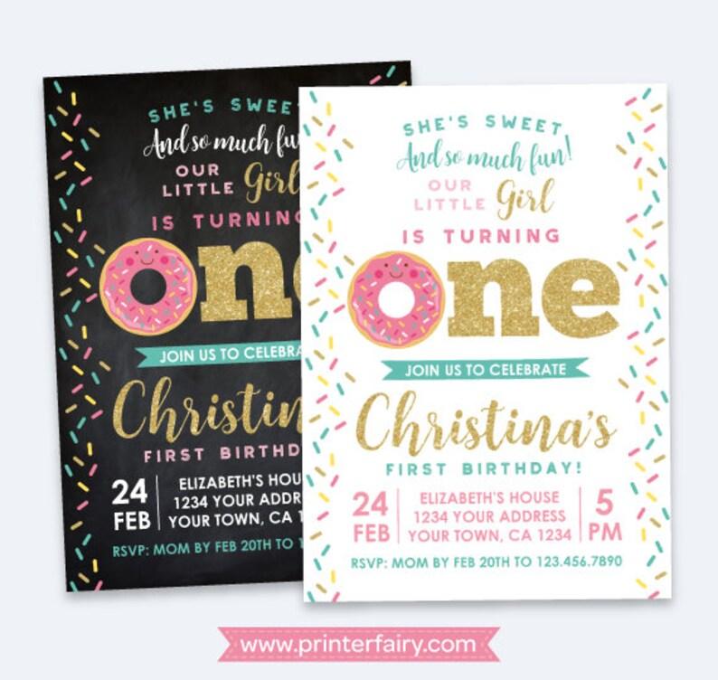 Donut Invitation First Birthday