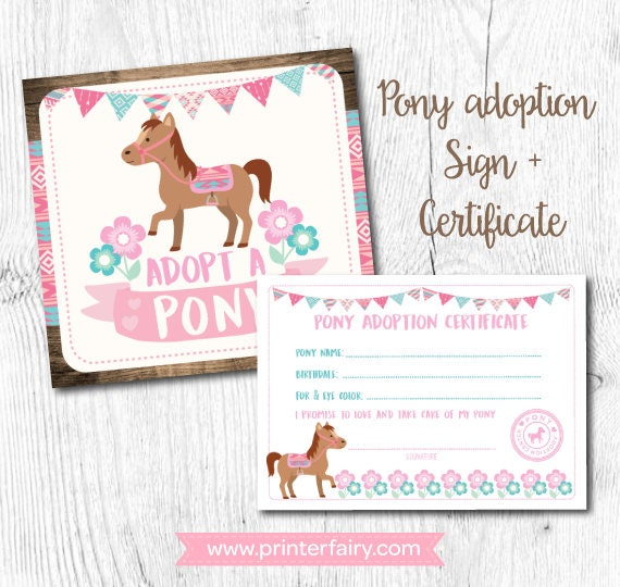 Pony Birthday Party Horse Decorations Cowgirl Decor Signs Instant Download