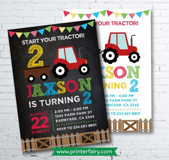 Farm Invitation, Barnyard Birthday Invitation, Farm First Birthday Party, DIGITAL Invitation, 2 options