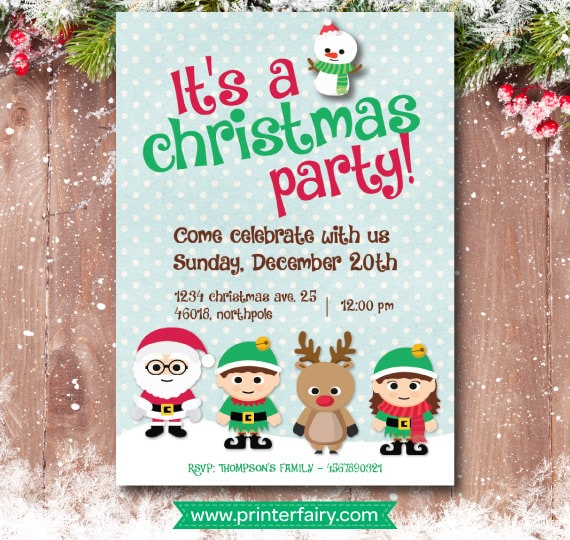 christmas party invitation christmas birthday invitation christmas