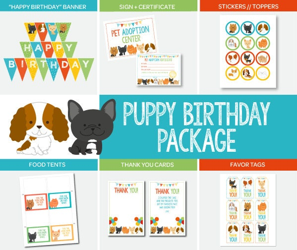 Puppy Adoption Birthday Party Package, Pet Adoption Party, Puppy ...