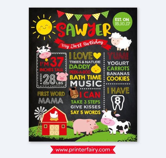 party animals milestone poster milestone board 1st birthday stat poster party animal birthday milestone sign chalkboard birthday poster