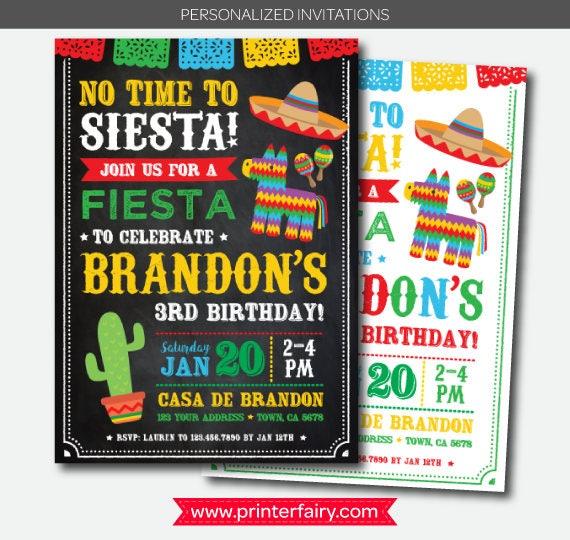 fiesta invitation cinco de mayo invitation fiesta first birthday