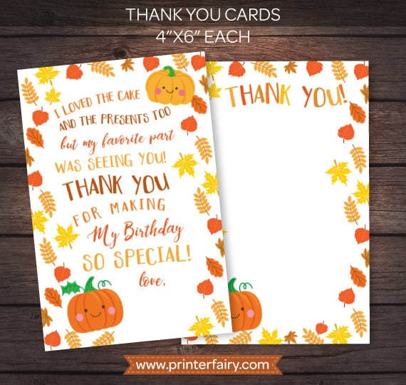 image relating to Printable Versions named Quick Down load Tiny Pumpkin, Printable Thank Oneself Playing cards