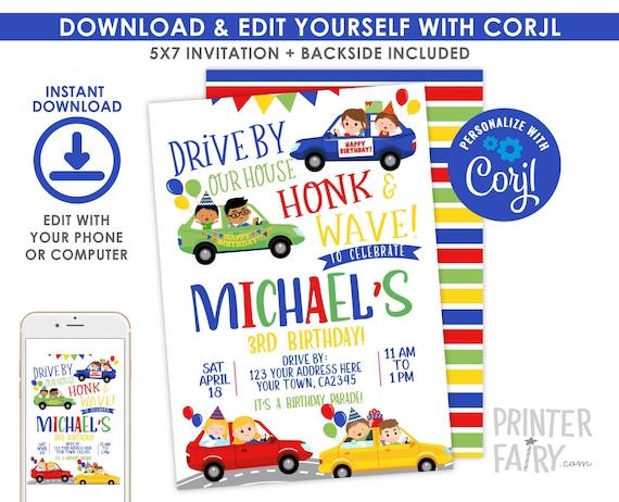 Drive Through Birthday Party Quarantine Birthday Virtual Etsy