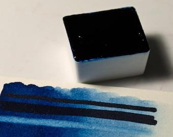 Prussian Blue Handmade Artist Watercolour Paint Schmincke Half-pan
