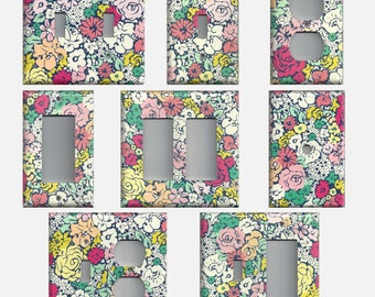 Vintage Inspired Art Deco Floral Light Switch Plate Covers And Wall Outlet