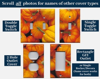 Mini Pumpkins Harvest Decor Light Switch Cover and Outlet Covers; Autumn Decorations, Rustic Fall Decor, Halloween Pumpkin Decor
