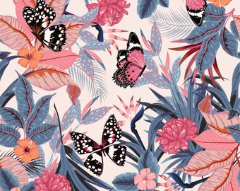 85396ba6 Tropical Butterfly Seamless Printed Pattern Vinyl