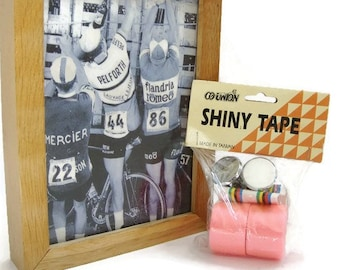 Vintage cycle handlebar tape pink, new old stock from the 70s