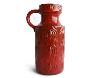 Vintage ceramic vase Amsterdam decor Scheurich 485 26, West German Pottery