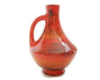 Vintage ceramic vase Bay 67 17, West German Pottery