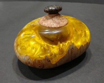 Hybrid resin and Maple burl lidded box