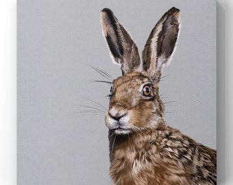 Hare Art Print, Hare Painting, Giclee Print of a Hare from my Original Painting -FREE DELIVERY-