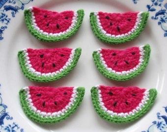 6 Crochet  Watermelons YH - 036