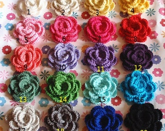 6 Crochet Flowers In Your Color YH-121-01