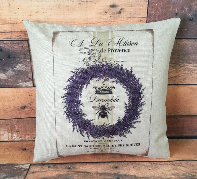 Provence lavender cushion cover 40 cm  Rustic/French image 0