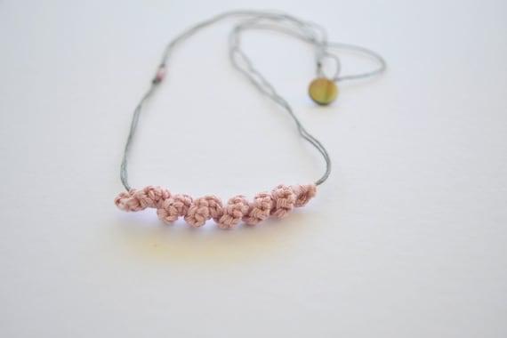 boho yarn necklace linen necklace linen yarn linen jewelry Linen necklace necklace with pendant necklace with pendant necklace linen