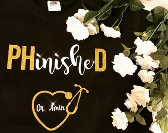 PhD Graduation Shirt - Personalized Doctorates