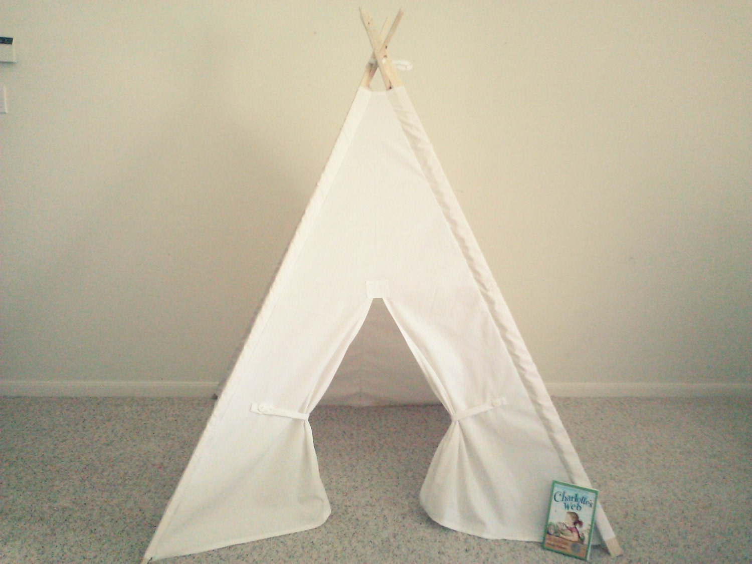 & White Teepee Canvas Tent White Tipi Wigwam or Kids Fort the | Etsy