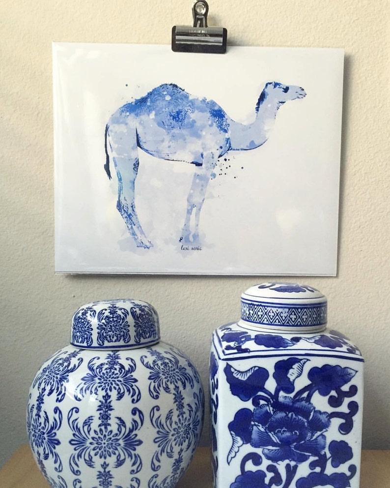 Ginger Jar Inspired Blue Camel  Blue Camel  Camel  Camel image 0