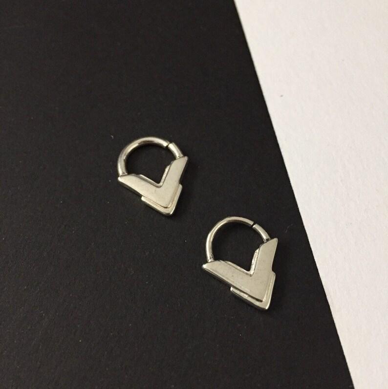 KALIFA Sterling Silver Septum Ring Tribal Septum Ring Unisex Septum Ring Septum Jewelry 181614 Gauge Septums Silver Septum