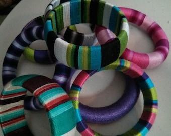 Yarn Wrapped Bracelets Pattern