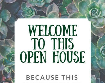 open house flyer please remove your shoes instant digital download