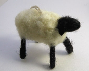 Sheep Ornament, Hand Felted Sheep Ornament, Sheep Wreath Decoration, Lamb Nursery Decoration