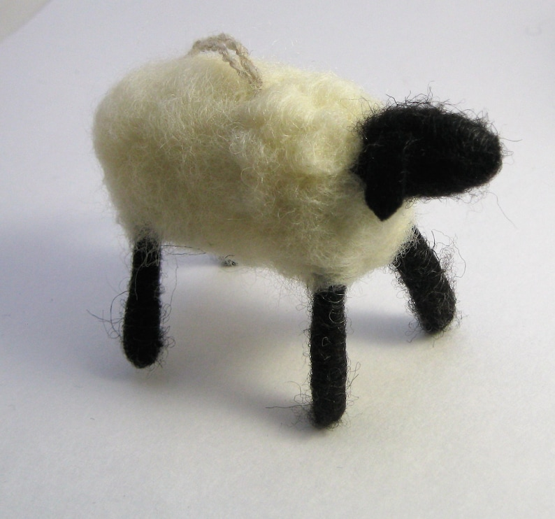 Sheep Ornament Hand Felted Sheep Ornament Sheep Wreath image 0
