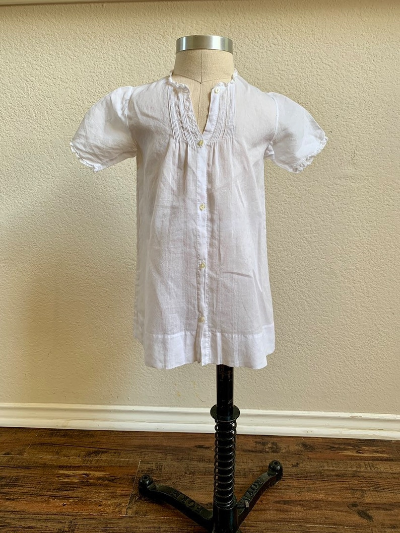 Vintage Baby Gown  White Baby Dress