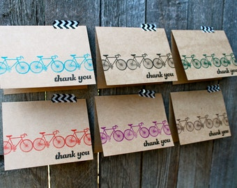 Bicycle Thank You Cards - Bike Thank You Cards - Thank You Card Set - Bicycle Gifts - Bicycle Cards - Charity Ride Thank You - Bike Cards