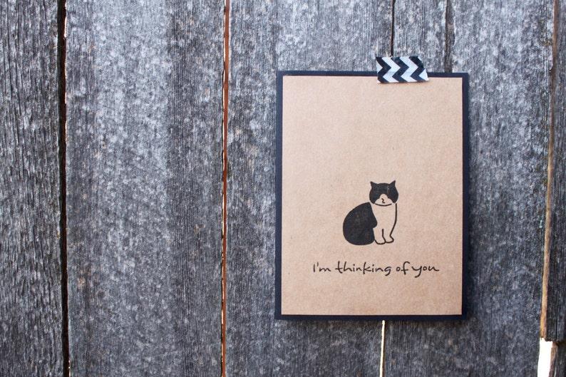 Greeting Cards Cute cat Handmade Cards Cat Cards Set of Cat Cards Thinking of You Cat Thinking of You Card Set Cat Greeting Cards