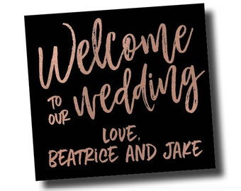 Hand lettered welcome stickers, modern hand lettering, welcome labels for gable boxes