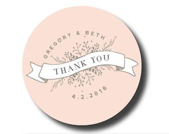 Wedding thank you stickers, Wedding Stickers Personalized, Wedding Favor Labels, Thank You Stickers, welcome bag stickers, welcome bag label