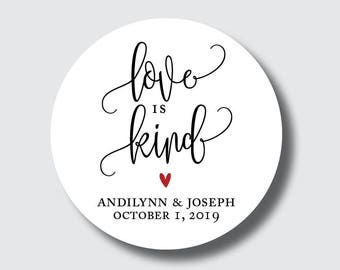 Love is kind stickers, 1 Corinthians, love is patient, wedding stickers, religious wedding favors, Christian wedding ideas