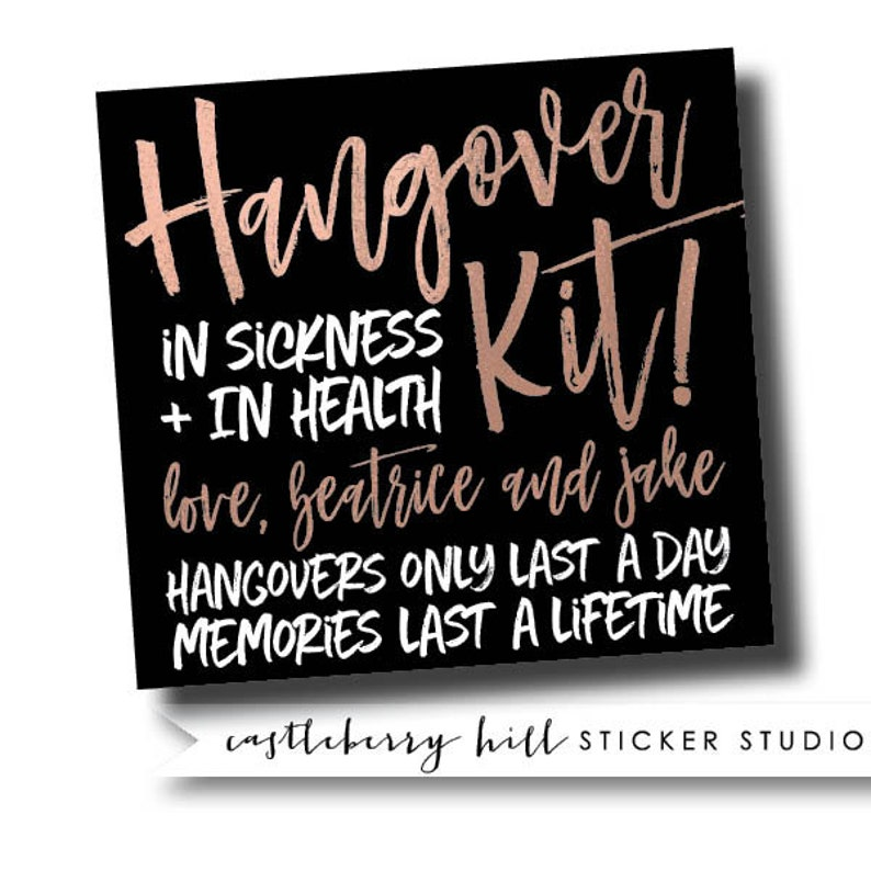 bachelorette weekend favors Bachelorette party favor hangover kit welcome box label hen party stickers bachelorette welcome box