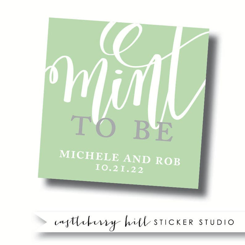 7690970ce44e Mint to be stickers mint to be labels mint wedding favors