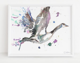 """Goose Watercolor Digital Download 