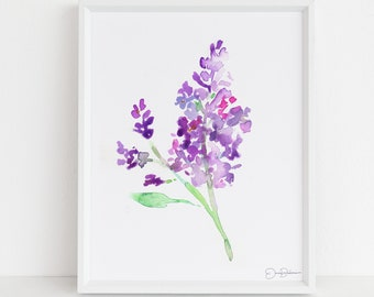 "Floral Watercolor Digital Download  |  ""Lilac Season"" by Jess Buhman, 8 x 10 Instant Download, Art for Her, Gift for Women"