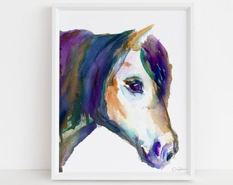 """Horse Watercolor Print   """"A Horse, Of Course"""" by Jess Buhman, Multiple Sizes, Wall Art, Nursery Painting, Home Decor, Choose Your Size"""