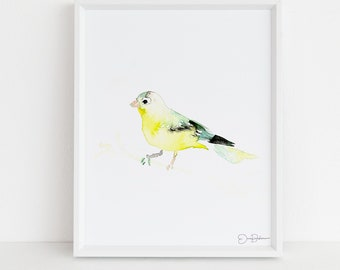 """Watercolor Goldfinch Bird Instant Download  