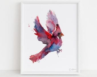 "Cardinal Print | ""Cordelia the Cardinal"" by Jess Buhman, Multiple Sizes, Choose Your Size"