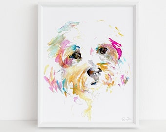"Dog Watercolor Print | ""Mrs. Sophie"" by Jess Buhman, Multiple Sizes, Select Your Size, Terrier Print"