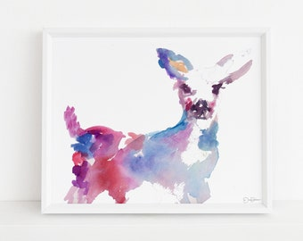"""Watercolor Deer Print 